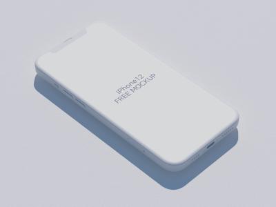 2.5d风格iphone 12 mockup 样机 .psd素材下载