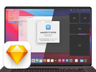 macOS 11 Big Sur UI Kit .sketch素材下载