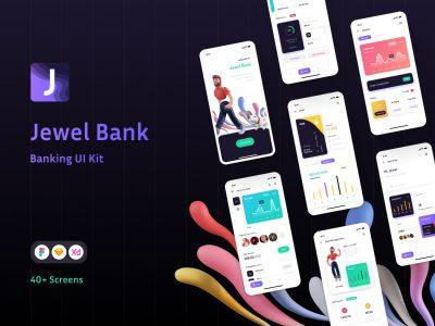 Jewel bank 银行金融app ui .xd .fig .sketch素材下载