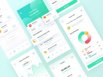 金融投资app ui .fig素材下载