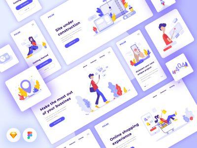 Pulse Illustration Kit 插画素材集 .fig .sketch .ai素材下载