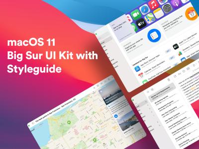 macOS Big Sur UI Kit .fig素材下载
