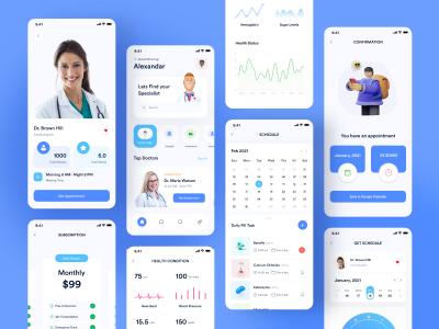 医疗app ui .fig素材下载