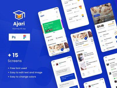 在线学习、教育app ui .psd .fig素材下载