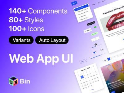 web app ui kit .fig素材下载