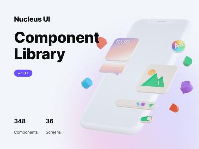 Nucleus UI app ui kit &明暗两个风格app ui设计模板 .fig素材下载
