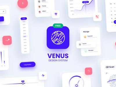 Venus – Design System 2021 ui kit .fig素材下载