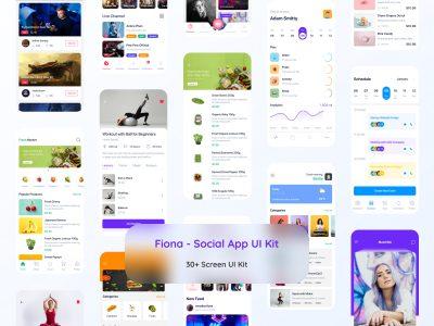 Fiona成套社交app ui .fig素材下载