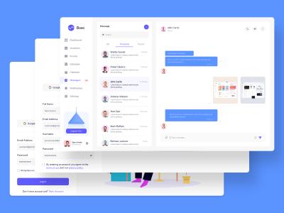saas平台登录注册&聊天页面UI .fig 素材下载