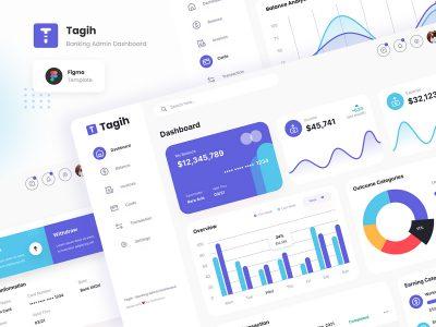 Tagih 简洁的金融服务系统后台UI .fig素材下载