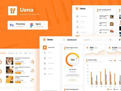 Uena餐厅订单管理系统ui .fig .psd素材下载