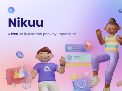 Nikuu 3d插画素材包 .fig素材下载