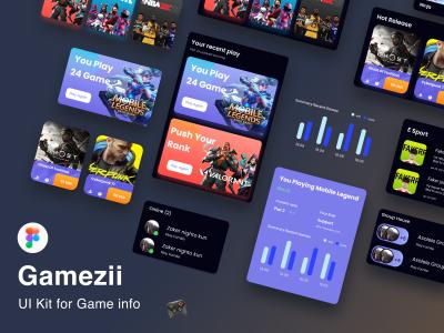 游戏资讯app ui kit .fig素材下载