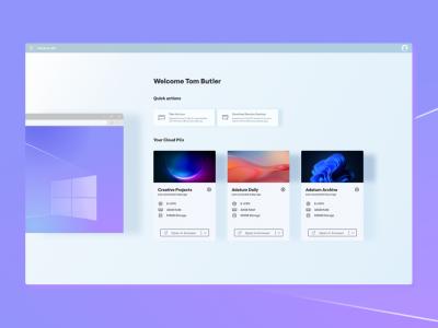 Windows 365 dashboard 工作台.fig素材下载