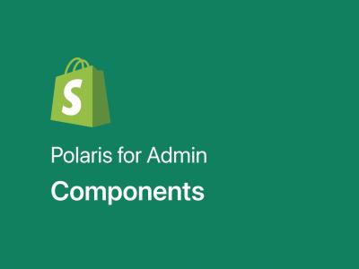 Polaris for Admin 网页设计规范 .fig素材下载