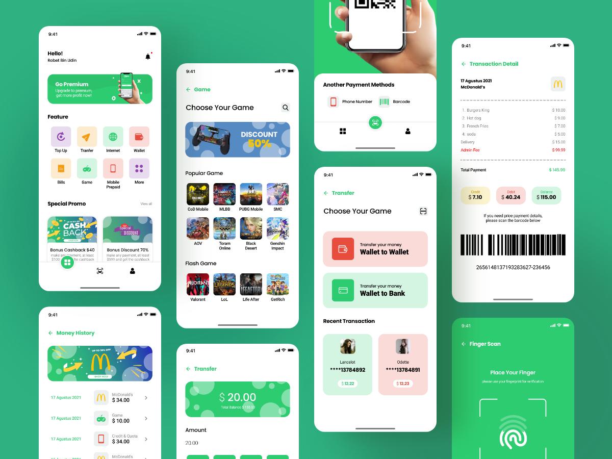 网站盒子分享支付系统app ui .fig素材下载