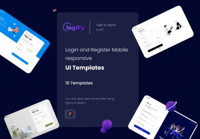 10登录注册web&app ui设计模板 .fig素材下载