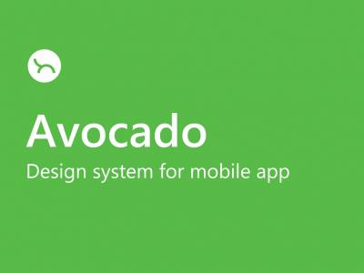 Avocado app ui设计系统 .fig素材下载