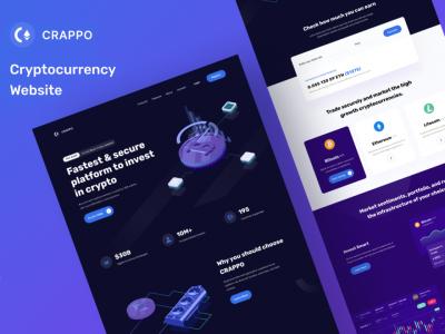 CRAPPO 数字货币网站落地页设计模板 .fig素材下载